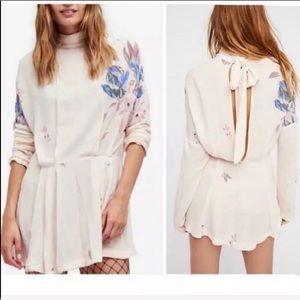 NWT Free People Gemma Floral Tunic Dress S M